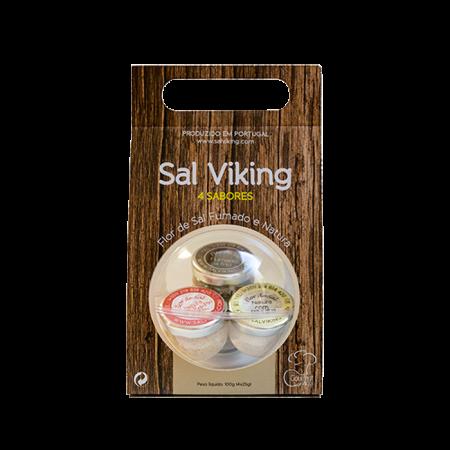 Embalagem Sal Viking 4 Sabores